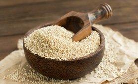 Quinoa com frutos silvestres